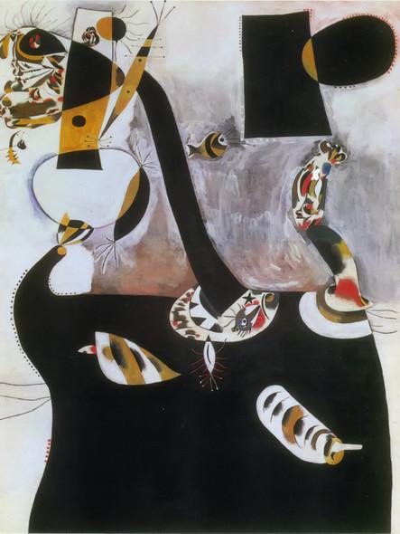 Seated Woman Ii 1938 by Joan Miro Print