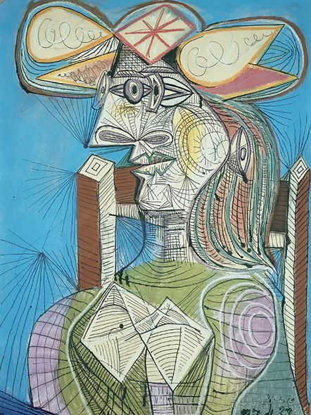 Seated Woman. Dora by Picasso Print