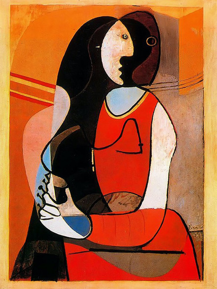 Seated Woman by Picasso 1 Print