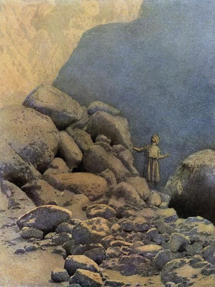 Second Voyage Of Sinbad Illustration by Maxfield Parrish Print