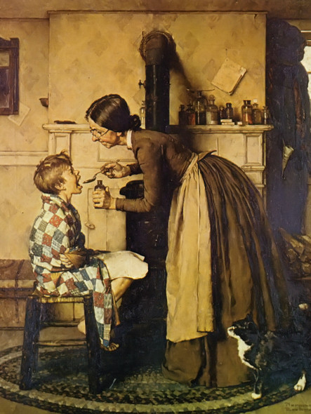 Spring Tonic by Norman Rockwell Print