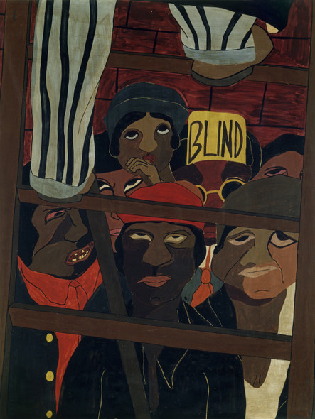 Street Orators Audience by Jacob Lawrence Print