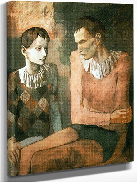 Acrobat And Young Harlequin1 By Pablo Picasso