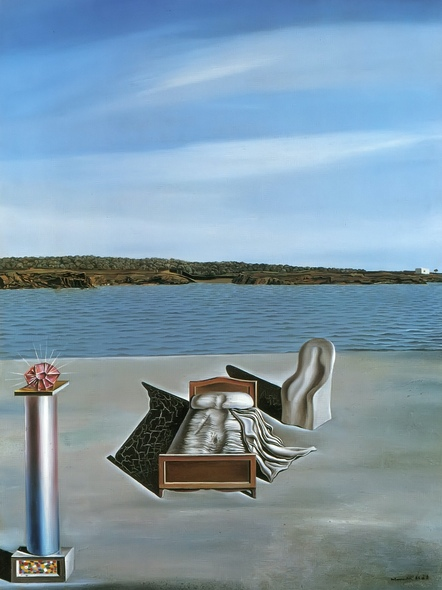 Surrealist Composition With Invisible Figures by Dali Print