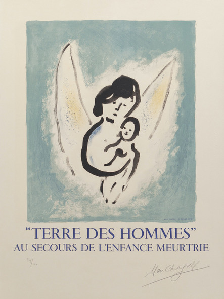 Terre Des Hommes 1971 by Marc Chagall Print