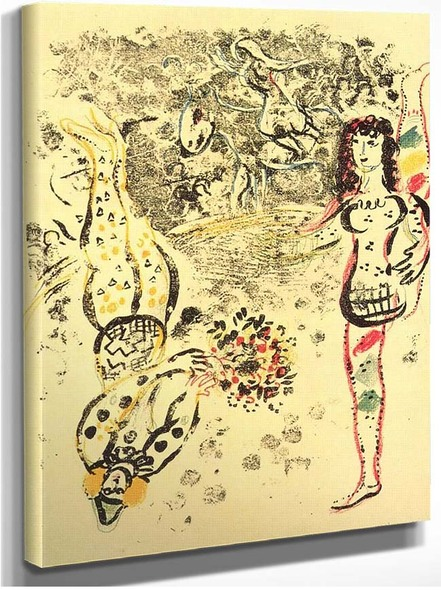 Acrobatics 1963 By Marc Chagall