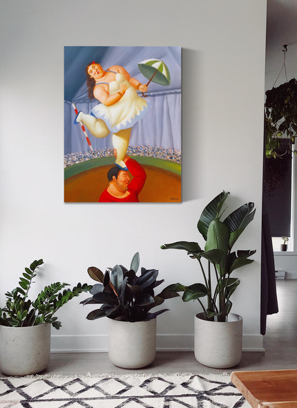 The Equilibrist by Botero