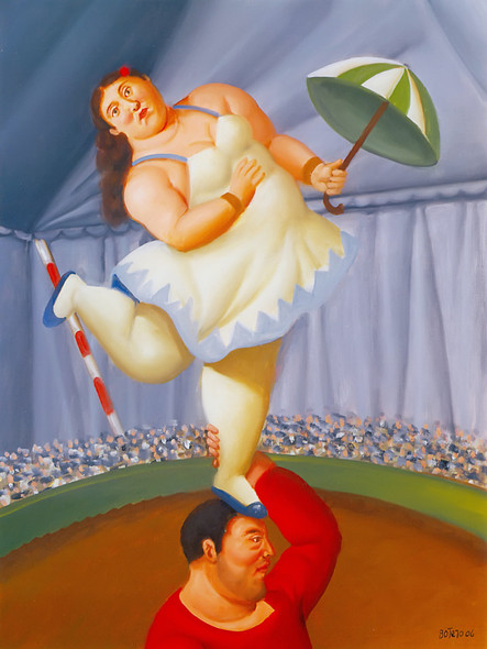 The Equilibrist by Botero Print