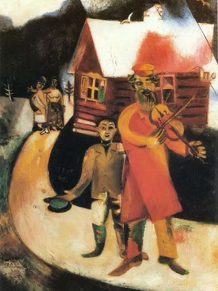 The Fiddler 1913 by Marc Chagall Print