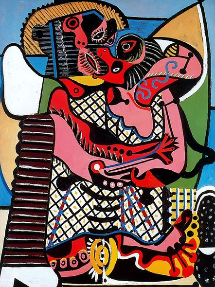 The Kiss 130x97 by Picasso Print
