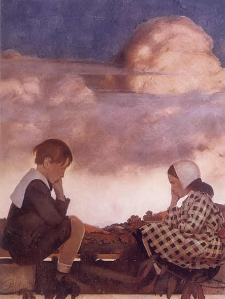 The Little Peach by Maxfield Parrish 2 Print