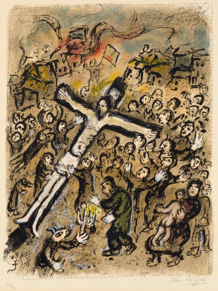 The Martyr 1970 By Marc Chagall by Marc Chagall Print