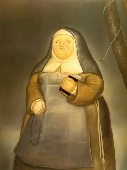 The Mother Superior by Botero Print
