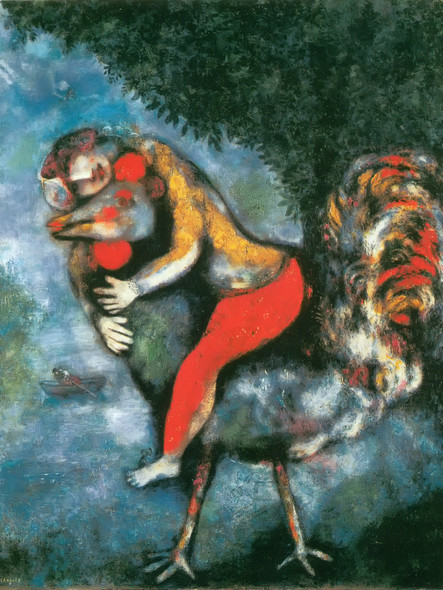 The Rooster by Marc Chagall Print