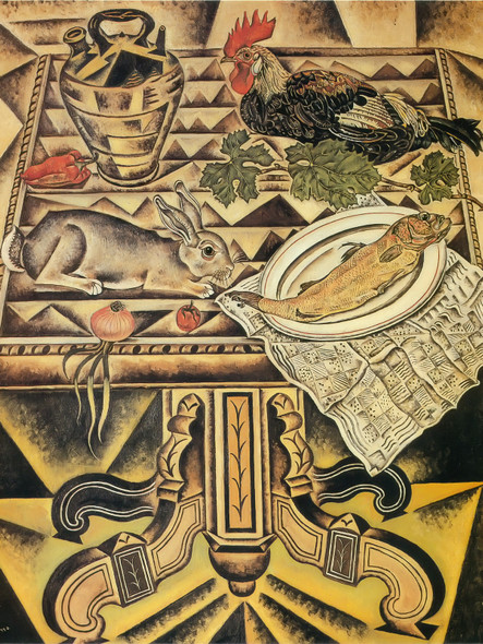 The Table ( Still Life With Rabbit) 1920 by Joan Miro Print