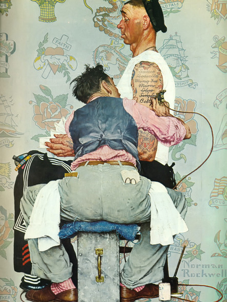 The Tattoo Artist by Norman Rockwell Print