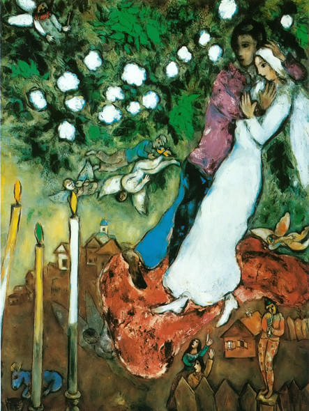 Three Candles by Marc Chagall Print