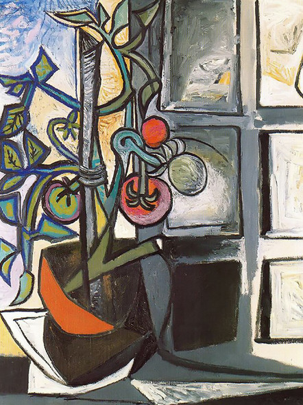 Tomato Plant 92x73 by Picasso Print