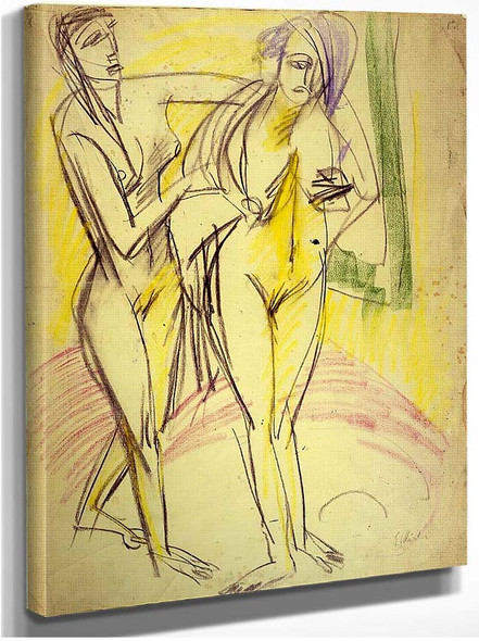 After The Bath By Ernst Ludwig Kirchner