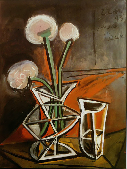 Vase With Flowers 65x49 by Picasso Print