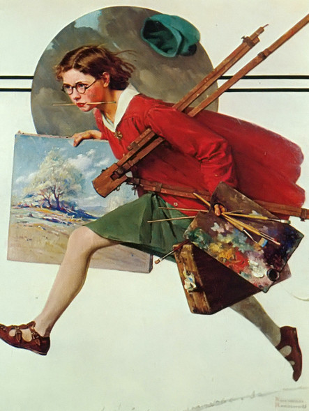 Wet Paint by Norman Rockwell Print
