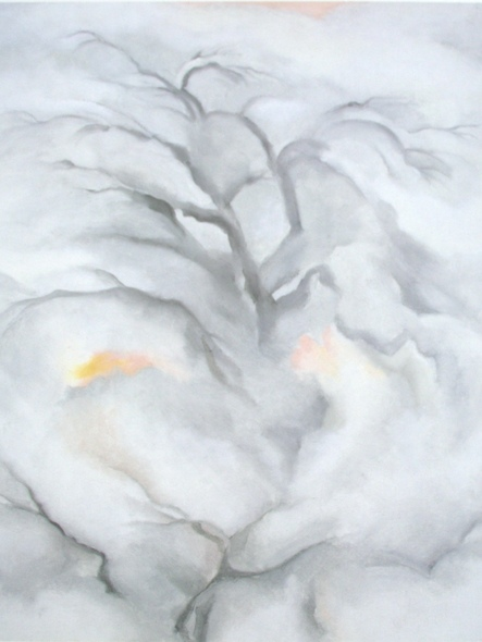 Winter Cottonwoods I by Georgia O Keeffe Print