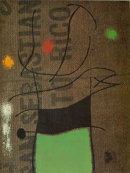 Woman And Bird Ivx 1960 by Joan Miro Print