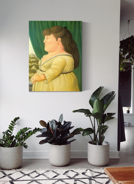 Woman At The Window by Botero