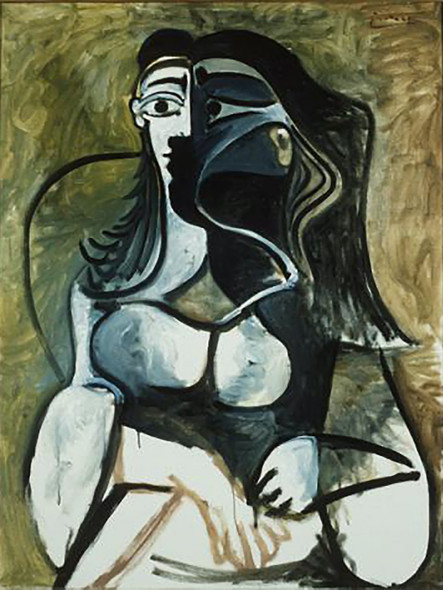 Woman In Armchair by Picasso Print