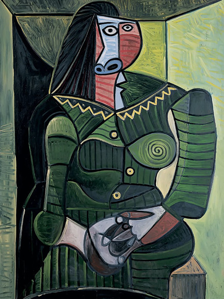 Woman In Green by Picasso Print