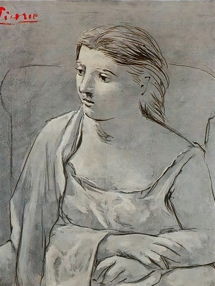 Woman In White by Picasso Print