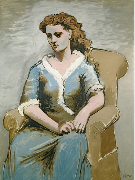 Woman Seated In An Armchair by Picasso Print