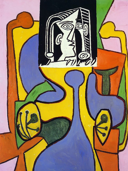 Woman Sitting In An Armchair 116x89 by Picasso Print