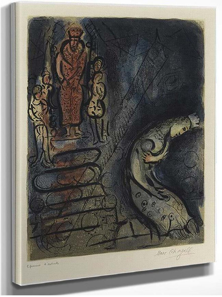 Ahasuerus Sends Vasthi Away 1960 By Marc Chagall