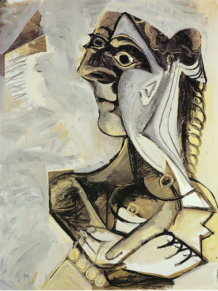 Woman With Braid 146x114 by Picasso Print