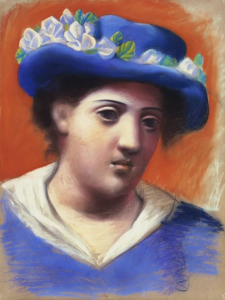 Woman With Flowered Hat by Picasso Print
