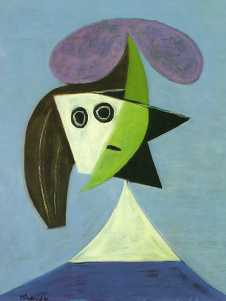 Woman With Hat (Olga) by Picasso Print