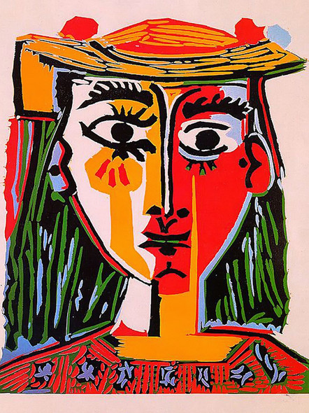 Woman With Hat 63x52 by Picasso Print