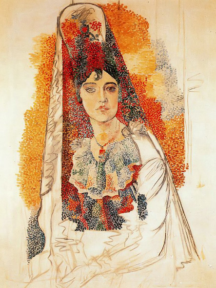 Woman With Spanish Dress by Picasso Print