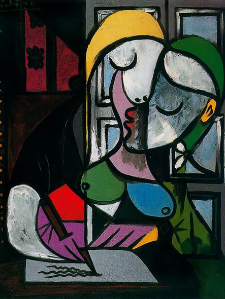 Woman Writing 162x130 by Picasso Print