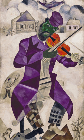 Green Violinist by Marc Chagall Print