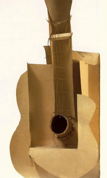Guitar 77x35 Museum Of Modern Art New York Usa by Picasso Print