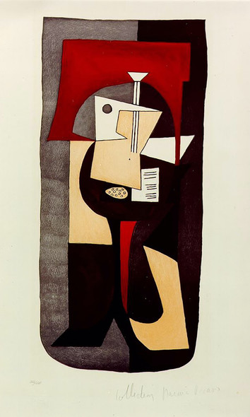 Guitar On Pedestal1 by Picasso Print