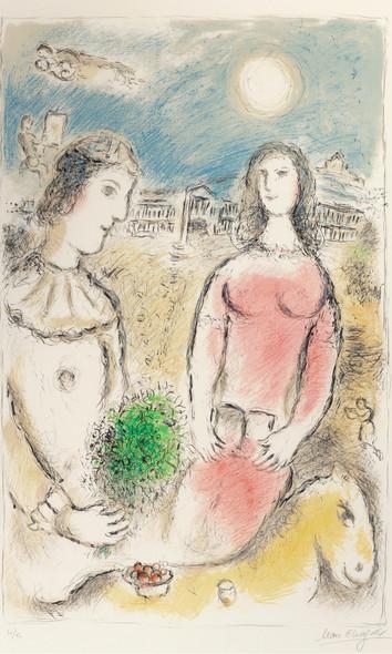 Le Couple Au Crepuscule 1980 by Marc Chagall Print