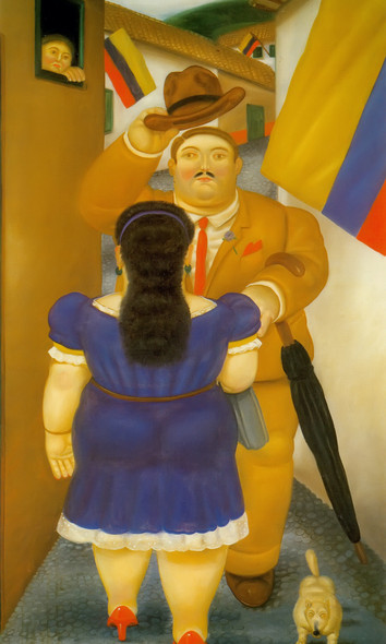 National Holiday by Botero Print