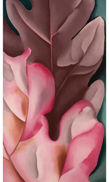 Oak Leaves Pink And Grey by Georgia O Keeffe Print