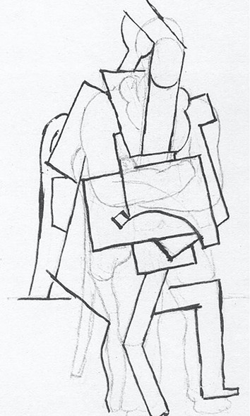Seated Man With His Arms Crossed by Picasso Print