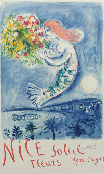 The Bay Of Angel Poster 1962 by Marc Chagall Print