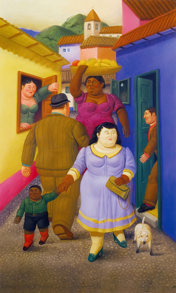 The Street 1 by Botero Print
