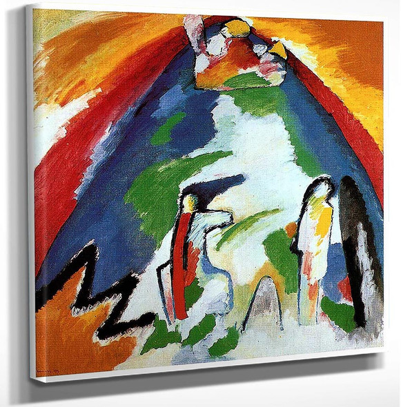 A Mountain 1909 By Wassily Kandinsky Art Reproduction from Wanford.